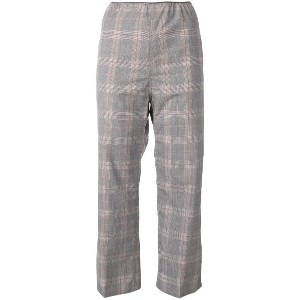 Sofie D'hoore plaid cropped trousers - グレー