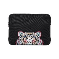 Kenzo tiger embroidered clutch - ブラック