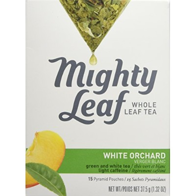 Mighty Leaf Tea, White Orchard, 15-Count Whole Leaf Pouches 1.32 Oz. (Pack of 3) by Mighty Leaf Tea