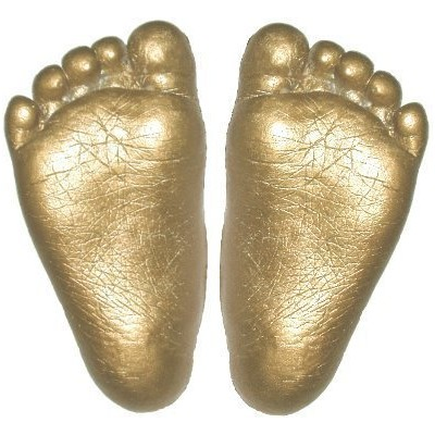 Basic 3D Handprint Footprint Baby Casting Kit Materials with Metallic Gold paint by BabyRice by...