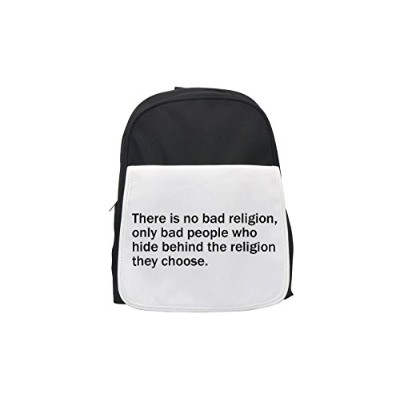 There Is No Bad Religion、のみBad People Who Hide Behind the They宗教選択プリントバックパック