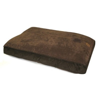 Precision Pet Gusset Floor Pillow 30 in. x 40 in. Chocolate Suede and Wide Chenille by Precision Pet