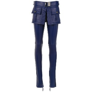 Andrea Bogosian leather skinny trousers - ブルー