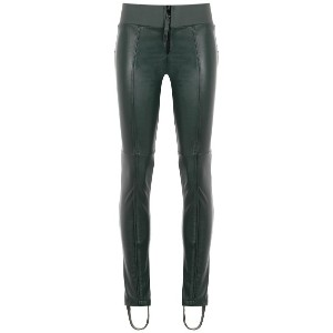 Andrea Bogosian leather skinny trousers - グリーン