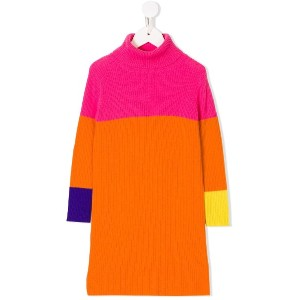 Il Gufo colour block knitted dress - ピンク&パープル