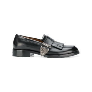 Givenchy buckled fringe loafers - ブラック