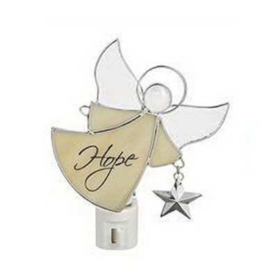 White Hope Angel - Stained Glass NightLight by Ganz by Ganz