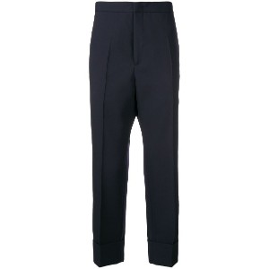 Jil Sander tailored tapered trousers - ブルー