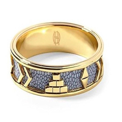 House of Harlow 1960 Aztec Bangle withブルーレザー