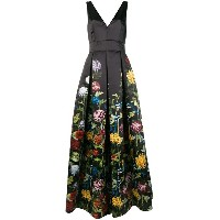 Alice+Olivia floral print ball gown - ブラック