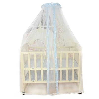Sunward Summer Baby Bed Mosquito Mesh Dome Curtain Net for Toddler Crib Cot Canopy (Blue) by Sunward