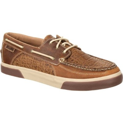 ヂュランゴ メンズ スリッポン・ローファー シューズ DDB0147 Music City Western Embossed Moc Boat Shoe Desert Sand Full Grain...