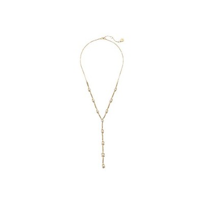 """Vince Camuto Womens Pearl And Pave 20"""" Yネックレス One Size ゴールド"""