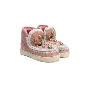Mou Kids Eskimo studded boots - ピンク