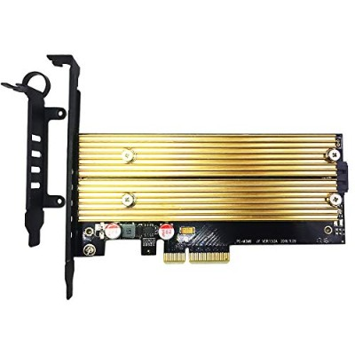 GLOTRENDS M.2 PCIe NVMe or PCIe AHCI SSD to PCIe 3.0 x4 and M.2 SATA SSD to SATA III Adapter Card...