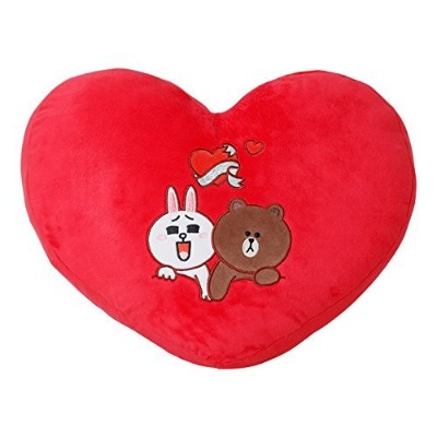 LINE FRIENDS ハートクッション(RED)