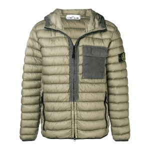 Stone Island hooded padded jacket - グリーン