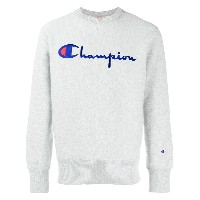 Champion embroidered logo sweatshirt - グレー