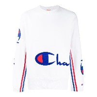 Champion embroidered logo sweatshirt - ホワイト