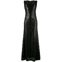P.A.R.O.S.H. sleeveless sequin long dress - ブラック