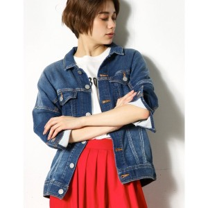 【SALE 50%OFF】【AZUL BY MOUSSY】カットビッグデニムジャケット D/BLU