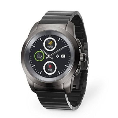 "MyKronoz zetime EliteハイブリッドSmartwatch 44 mm with Mechanical Hands Over aカラータッチ画面â €"" Brushedチタン..."