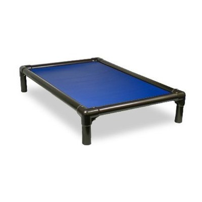 Kuranda Walnut PVC Chewproof Dog Bed - Large (40x25) - Vinyl Weave - Royal Blue by Kuranda