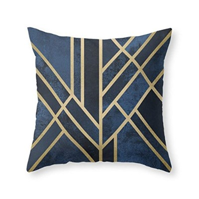 """society6アールデコMidnight Throw枕 Cover (20"""" x 20"""") with pillow insert s6-3621815p26a18v131a25v193"""