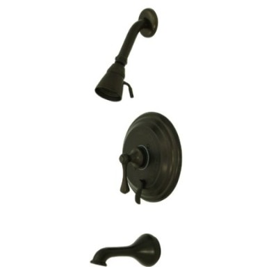 Kingston Brass KB36350BL Tub & Shower Faucet with Metal Lever Handle, Oil Rubbed Bronze