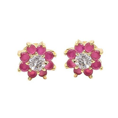 Geode DelightレディースStone Earring with Floral Tipe Woman
