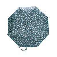 Moschino teddybear logo print umbrella - ブルー