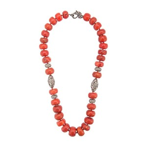 Loree Rodkin coral Maharajah beaded necklace - レッド