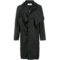 Chalayan hooded mac - ブラック
