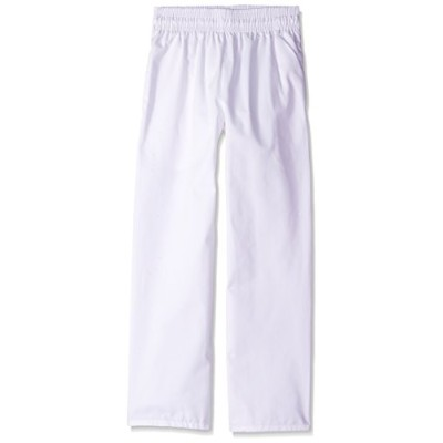 Uncommon Threads 4000-2503 Medium Classic Basic Baggy Chef Pant with 3'' Elastic Waist in White