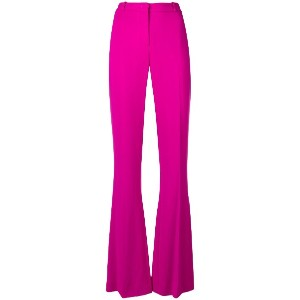 Capucci high-waisted flared trousers - ピンク&パープル