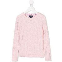 Ralph Lauren Kids cable knit jumper - ピンク