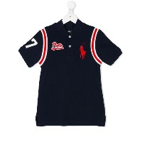 Ralph Lauren Kids logo embroidered baseball shirt - ブルー