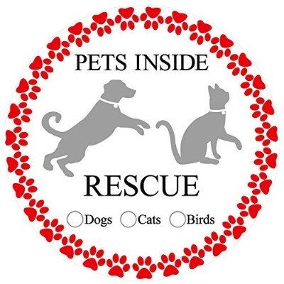 (Pet Rescue) - Screen Door Magnets - Twist, Click and Lock - Keep People and Pets from Walking into...