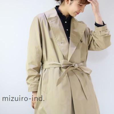 △△ mizuiro ind (ミズイロインド)trench coatmade in japan3-277772