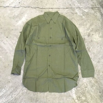 """DEADSTOCK"" US Navy N-3 Utility Shirt(ミリタリー ポプリン Vintage)アメリカ直輸入"