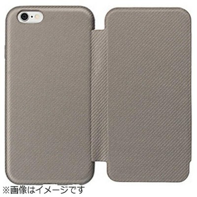 SoftBank iPhone6用 手帳型 スリムフリップケース グレー SoftBank SELECTION SB-IA10-FPSM/GL[SBIA10FPSMGL]