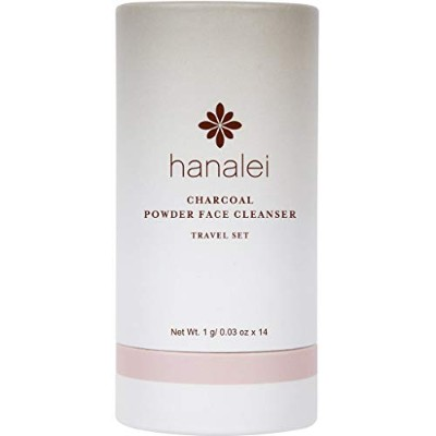 Charcoal Powder Face Cleanser Travel Set - 14 pack by Hanalei Company (1g x 14 パック) ハナレイの炭入り酵素洗顔料