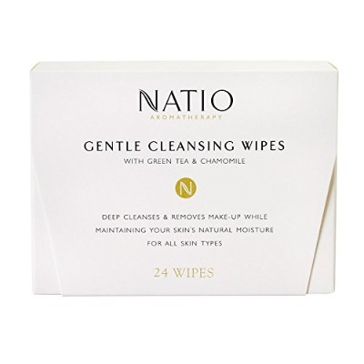 Natio Aromatherapy Gentle Cleansing Wipes Travel Size 24-Pack