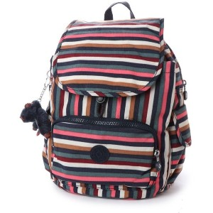 キプリング Kipling CITY PACK S (Multi Stripes) レディース