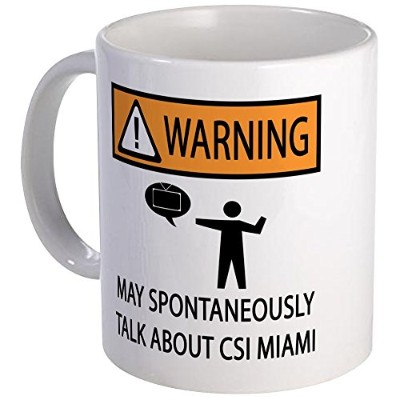 CafePress – Spontaneously Talk CSI Miamiマグ – Uniqueコーヒーマグカップ、コーヒーカップ S 0516191075FF0CA
