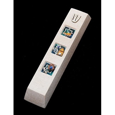 Mezuzah Made in Jerusalem Cast Stone by Shulamit Kanterアートデザイン
