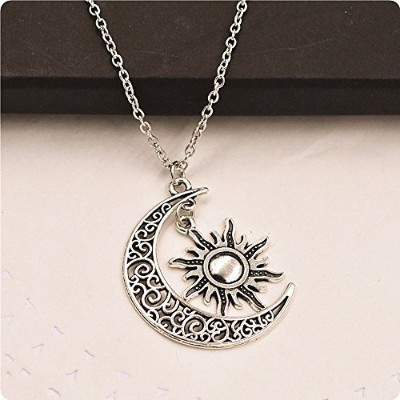 Moon and Sun Necklace Moon Necklace Sun Pendant Necklace BFF Graduation Gift (8) by nickyxia