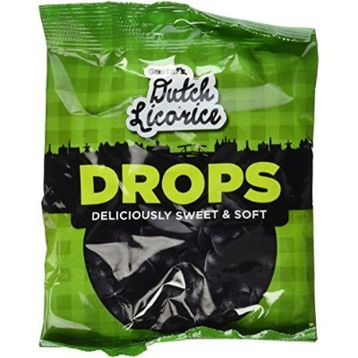 Gustaf's Black Licorice Drops, 5.2 oz Bags in a Gift Box (Pack of 3) by Black Tie Mercantile