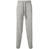 Pringle Of Scotland ribbed trim lounge trousers - グレー