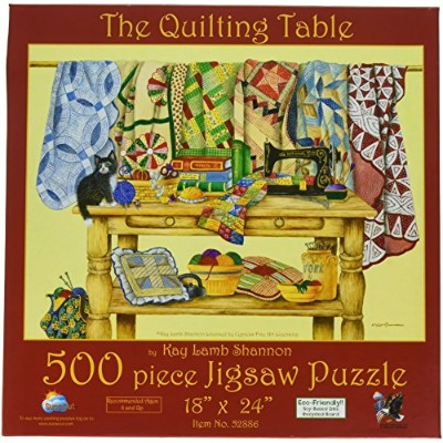 SunsOut 52886 500 Piece The Quilt Table Puzzle Art and Craft Product